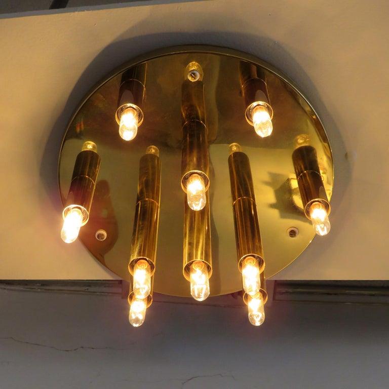 German Ten-Light Flush Mount Light Panel For Sale 2