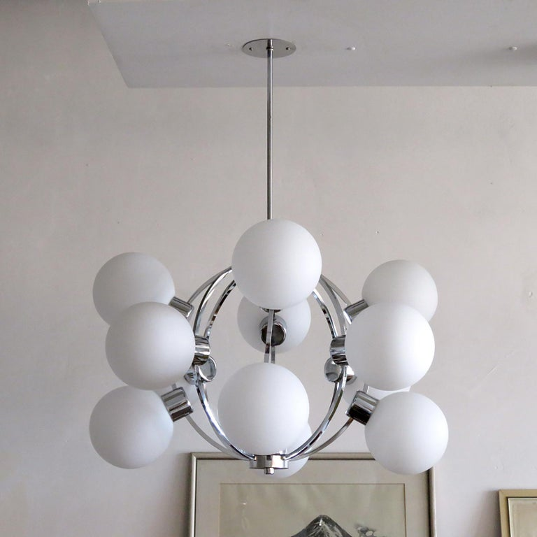 Space Age German XL-Atomic Chandelier, 1970 For Sale