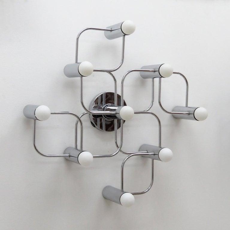 Mid-Century Modern German Leola Flush Mount Light Fixture For Sale