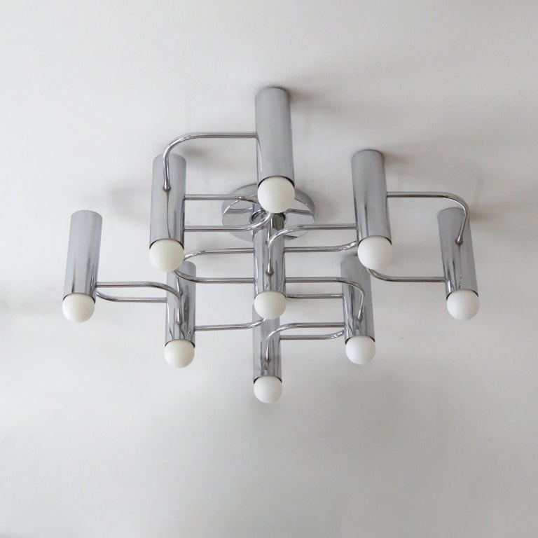 German Leola Flush Mount Light Fixture In Excellent Condition For Sale In Los Angeles, CA