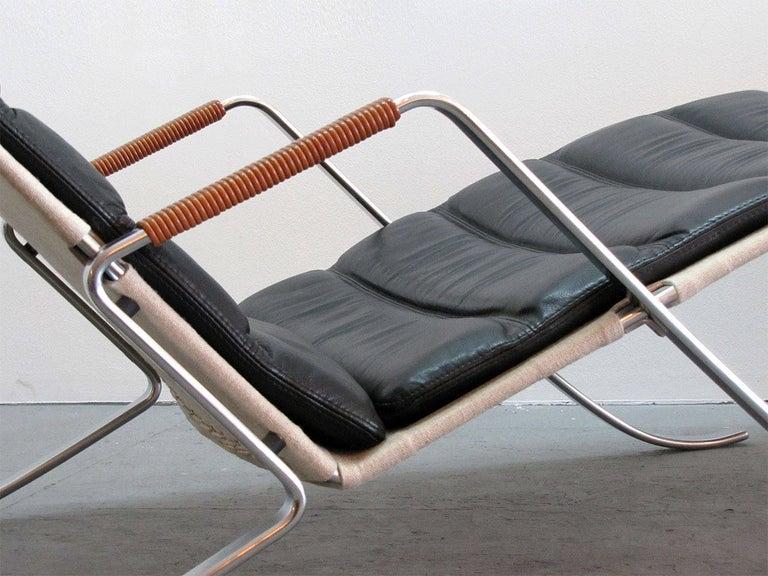 Mid-20th Century Preben Fabricius Jørgen Kastholm FK 87 'Grasshopper' Chaise Longue For Sale
