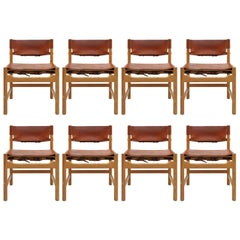 Set of Børge Mogensen Dining Chairs, 1961