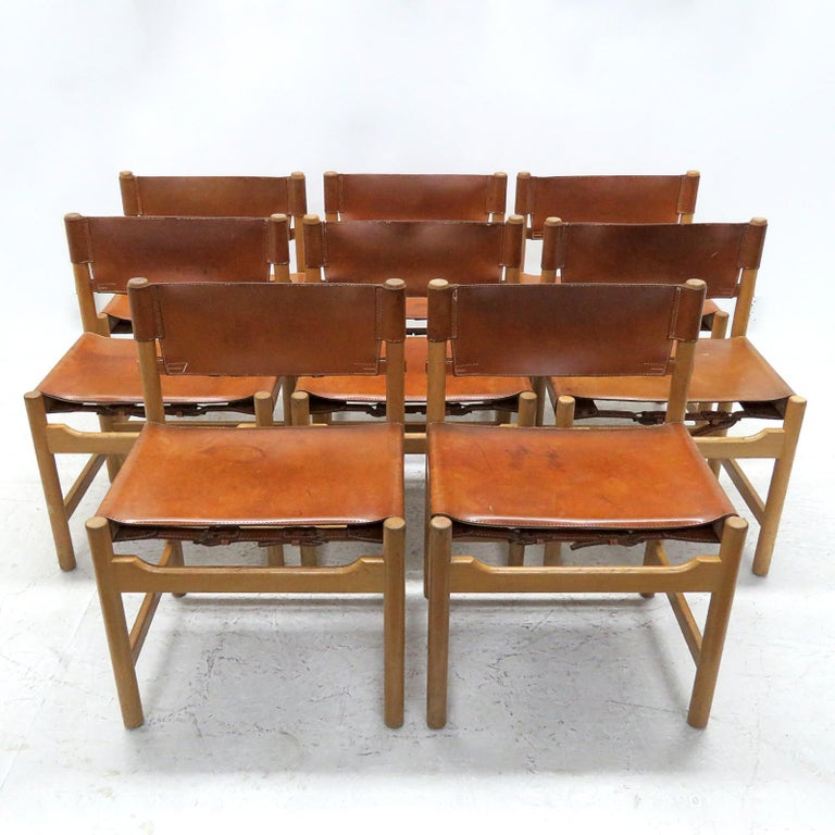 Set of Børge Mogensen Dining Chairs, 1961 For Sale 4