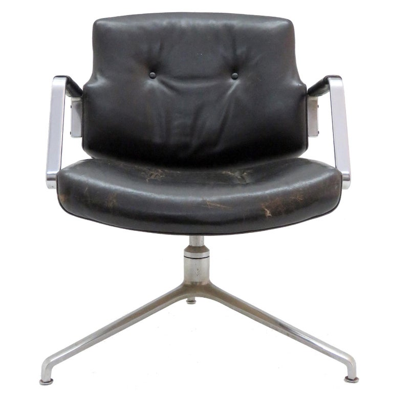 Preben Fabricius and Jørgen Kastholm Office Chair Model FK84 For Sale