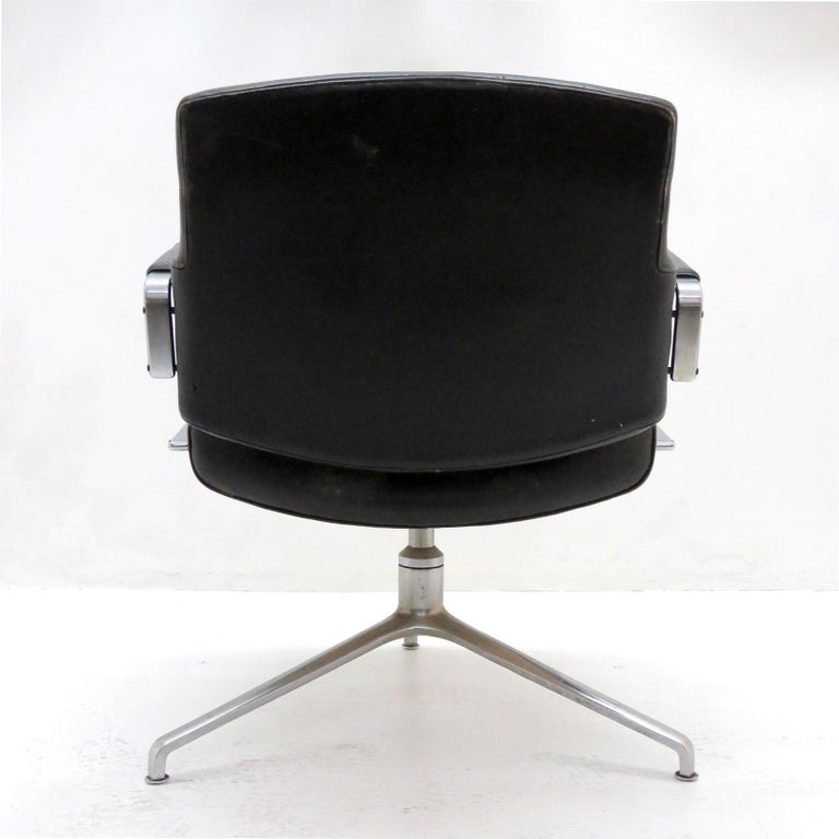 Plated Preben Fabricius and Jørgen Kastholm Office Chair Model FK84 For Sale