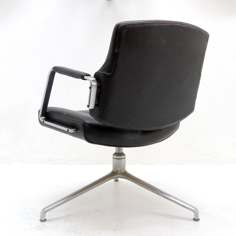 Danish Preben Fabricius and Jørgen Kastholm Office Chair Model FK84 For Sale