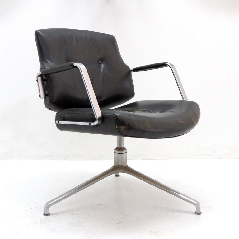 Scandinavian Modern Preben Fabricius and Jørgen Kastholm Office Chair Model FK84 For Sale