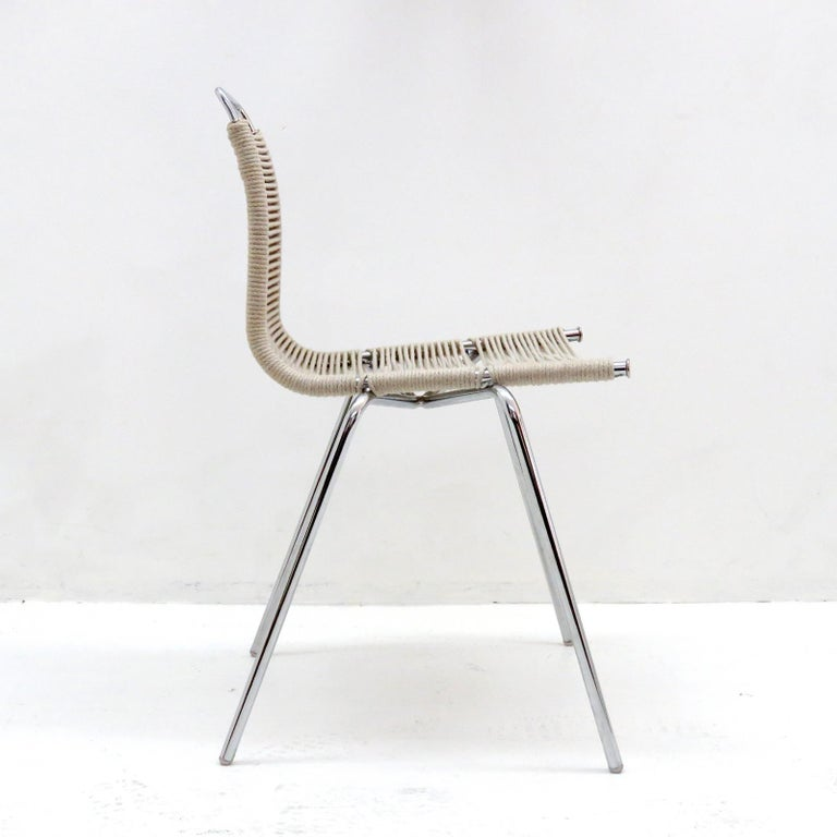 Plated PK-1 Dining Chair by Poul Kjaerholm For Sale