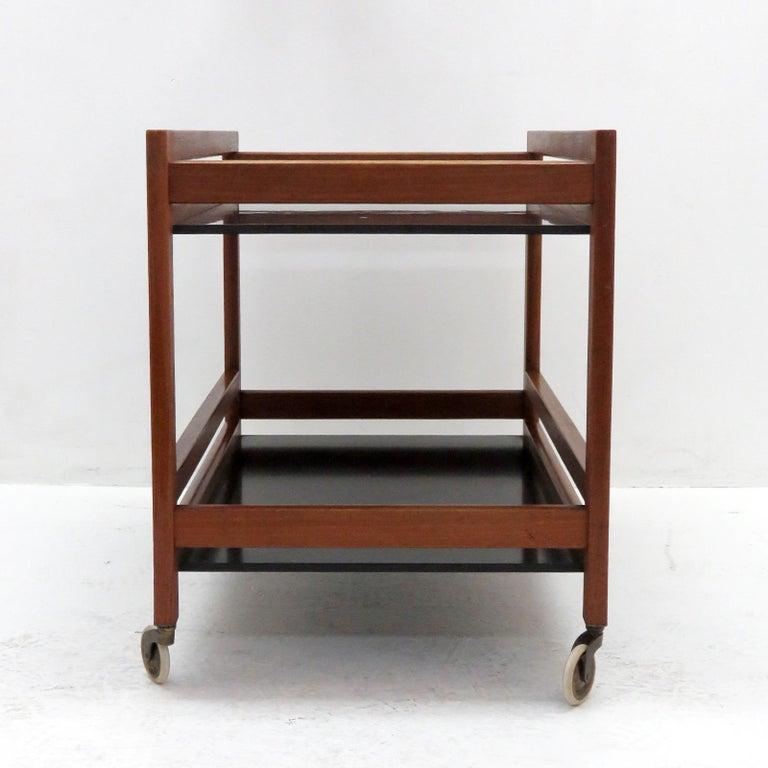 Powder-Coated Børge Mogensen Serving Cart, Model 5370 For Sale