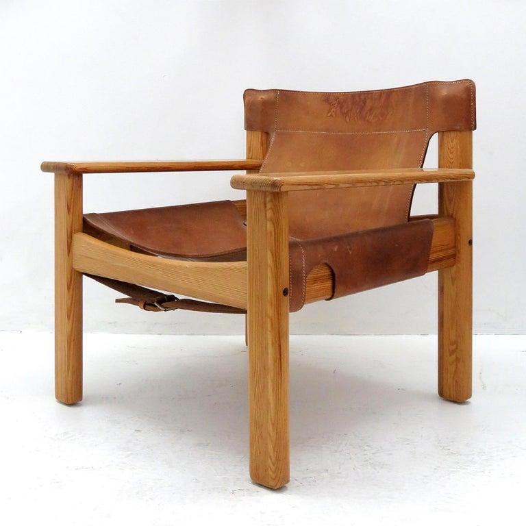 Swedish Leather Lounge Chairs