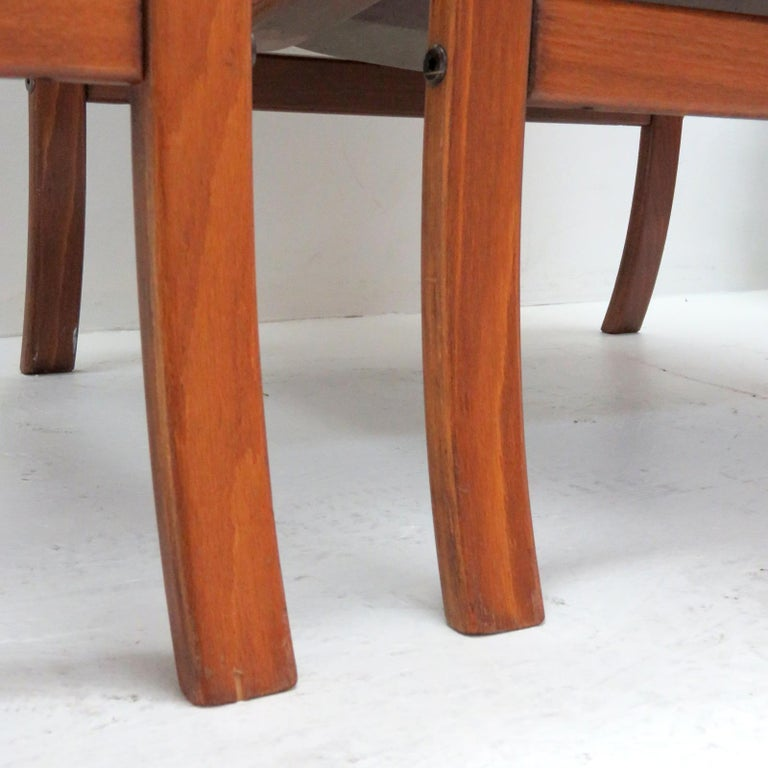 Swedish Bentwood Leather Chairs by Göte Möbler Nässjö For Sale 7