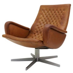 Leather Lounge Chair DS-51 by De Sede