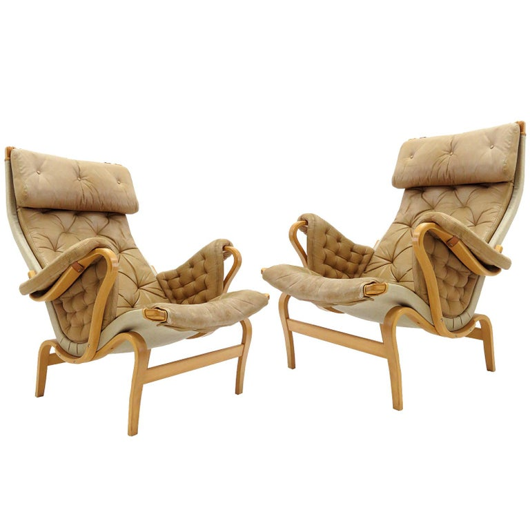 Pernilla Lounge Chairs by Bruno Mathsson for DUX For Sale
