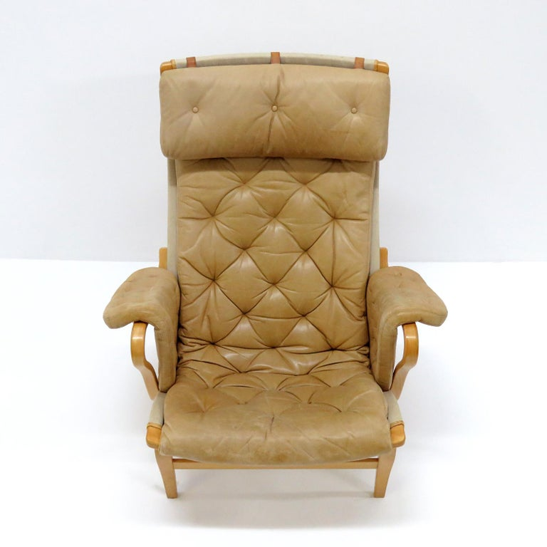 Scandinavian Modern Pernilla Lounge Chairs by Bruno Mathsson for DUX For Sale