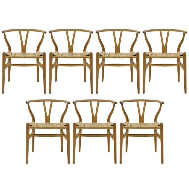 Hans J. Wegner Model CH-24 Dining Chairs, 1950 For Sale
