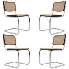 Four Marcel Breuer S32 Side Chairs, 1977