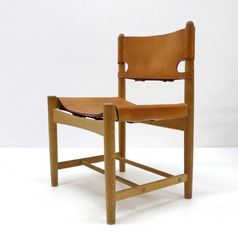 Scandinavian Modern Børge Mogensen 'Hunting' Chairs, Model 3237 For Sale