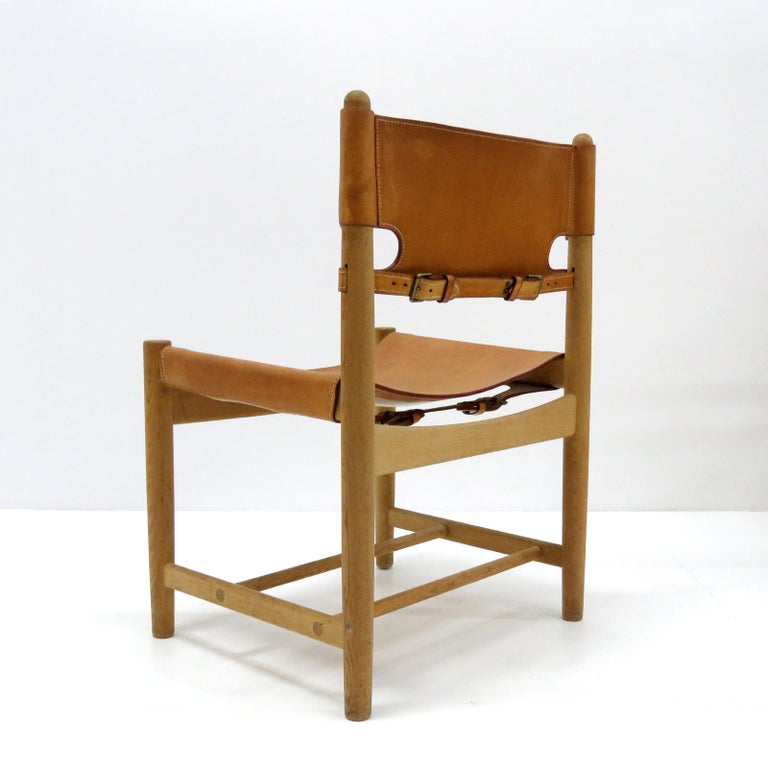 Børge Mogensen 'Hunting' Chairs, Model 3237 In Good Condition For Sale In Los Angeles, CA