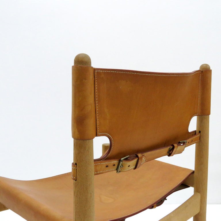 Leather Børge Mogensen 'Hunting' Chairs, Model 3237 For Sale