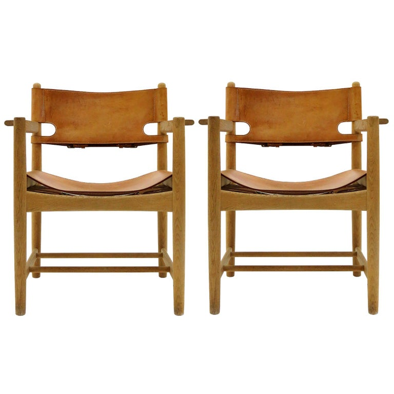 Børge Mogensen 'Hunting' Chairs, Model 3238 For Sale