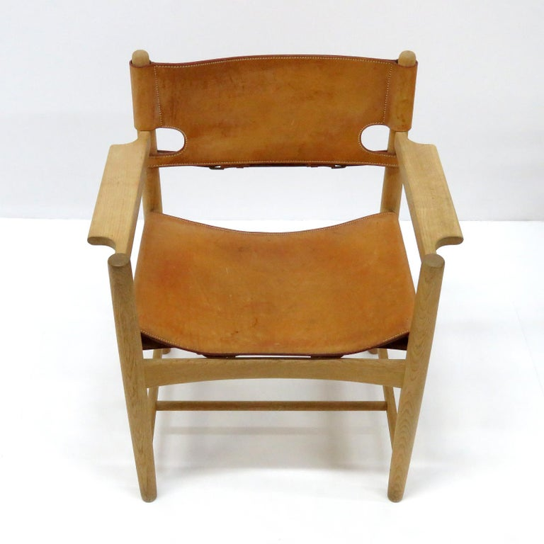 Scandinavian Modern Børge Mogensen 'Hunting' Chairs, Model 3238 For Sale
