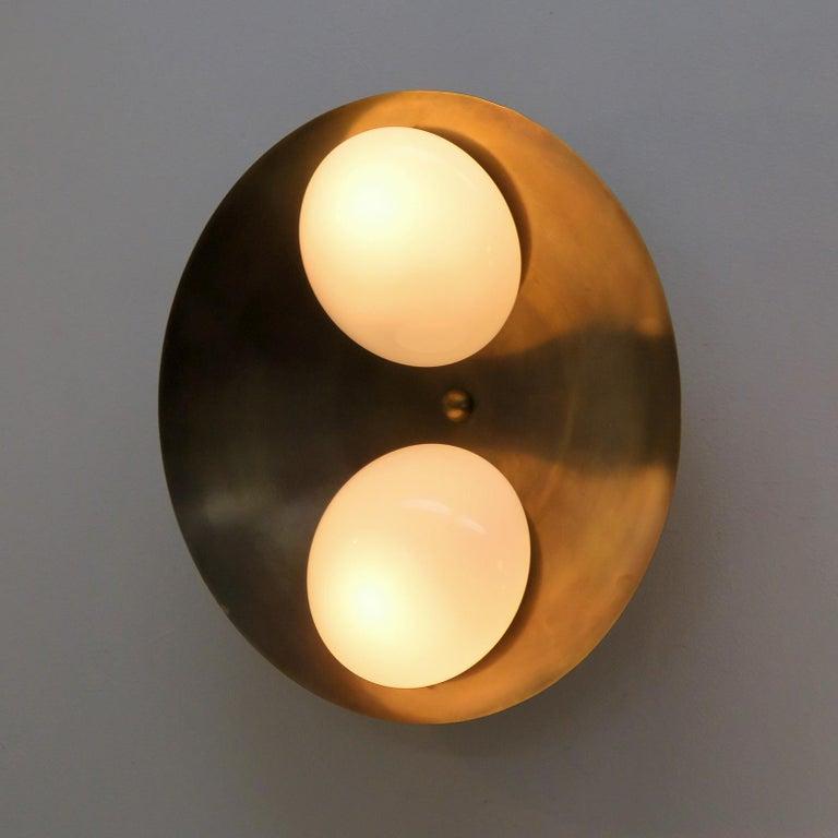 Opaline Glass Flush Mount Light