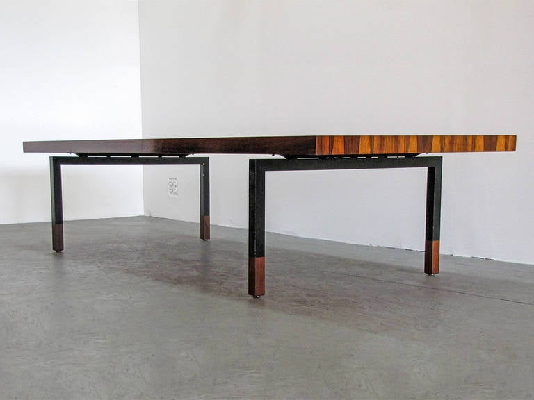 Danish Rosewood and Steel Coffee Table 3