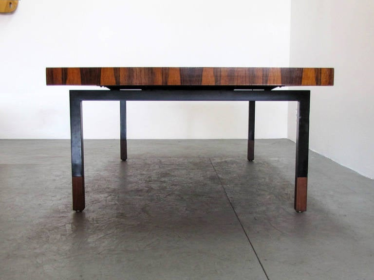Danish Rosewood and Steel Coffee Table 4