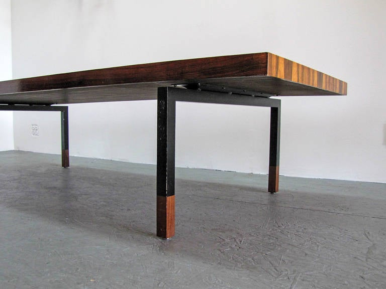 Danish Rosewood and Steel Coffee Table 5