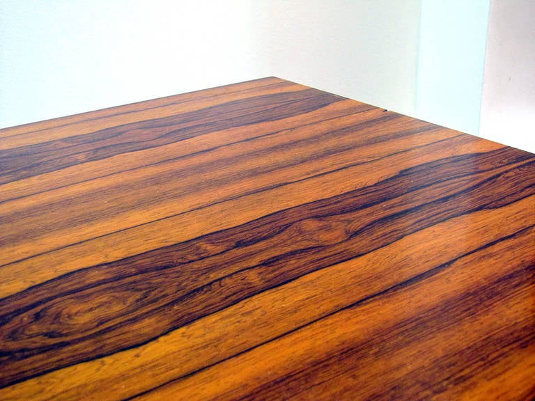 Danish Rosewood and Steel Coffee Table 7