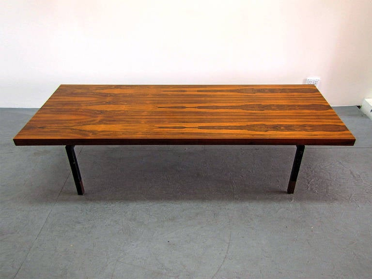 Danish Rosewood and Steel Coffee Table 8
