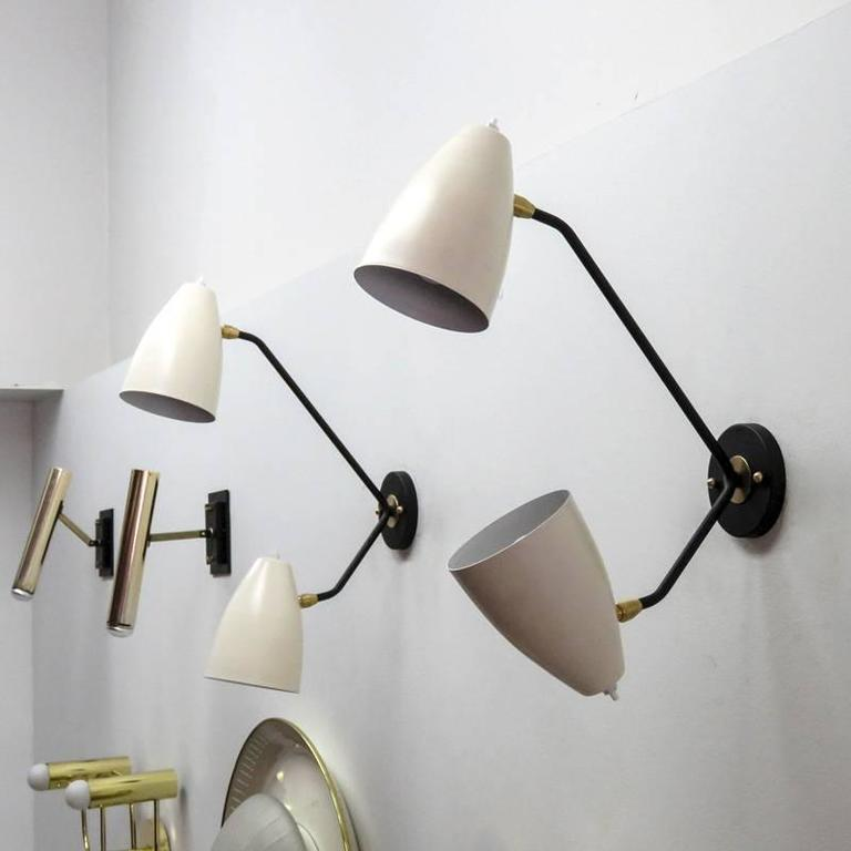 Double Arm Brass Wall Lights L3GG For Sale at 1stdibs
