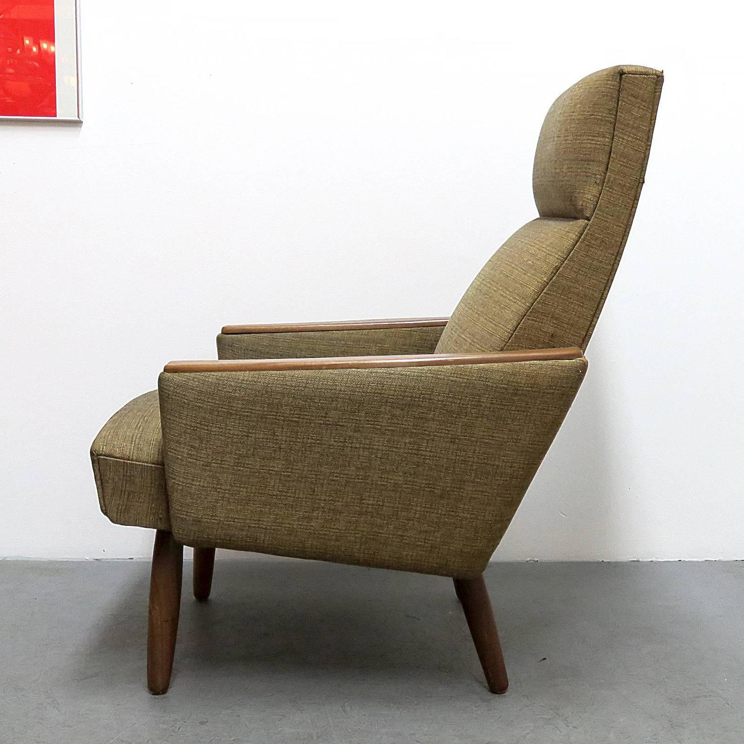 danish modern wingback lounge chair for sale at 1stdibs top