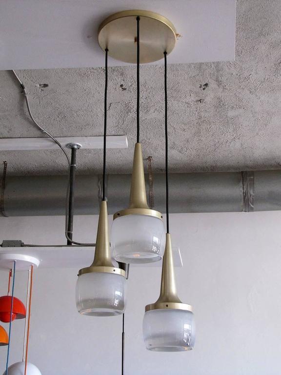 Mid-Century Modern Large Staff Pendant Lights For Sale