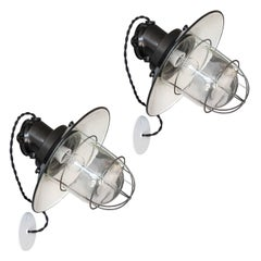 Pair of Industrial Wall Lights