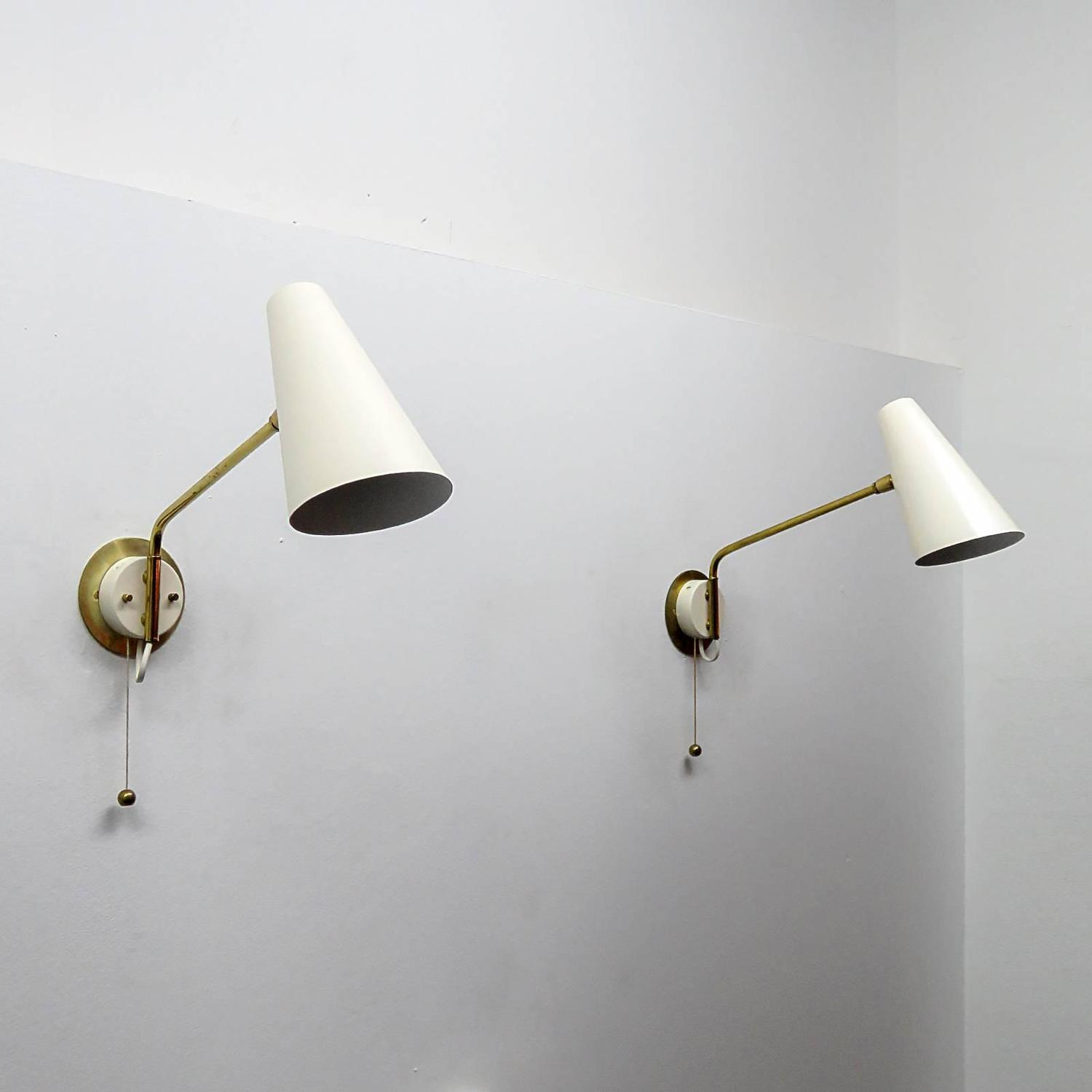 Pair of Stilnovo Swing Arm Wall Lights at 1stdibs