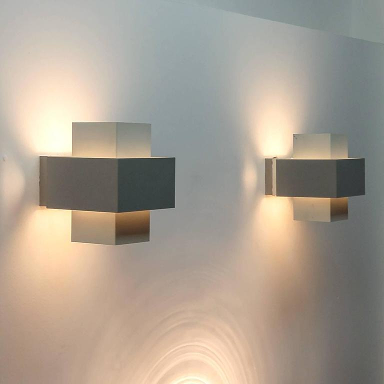 Philips Wall Light Greenyard : Pair of Philips Wall Lights at 1stdibs
