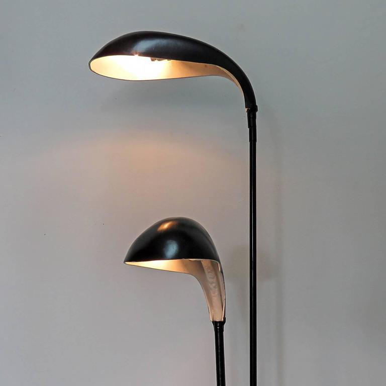 French double arm floor lamp at 1stdibs for Double floor lamp reading