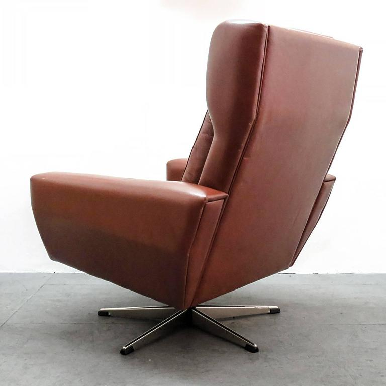 Georg Thams Leather Lounge Chair For Sale at 1stdibs