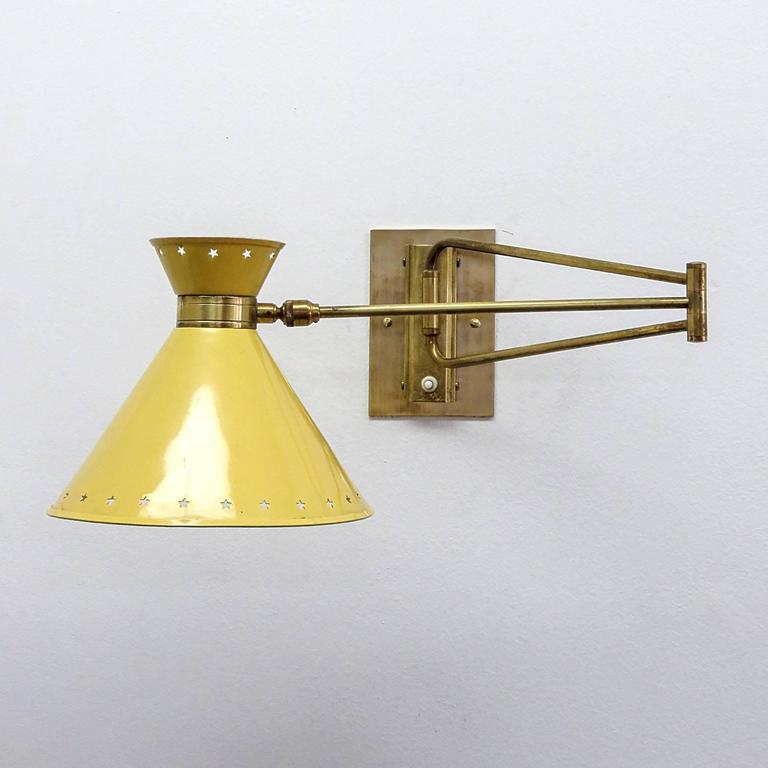 Pair of French Swing Arm Sconces by Lunel 4