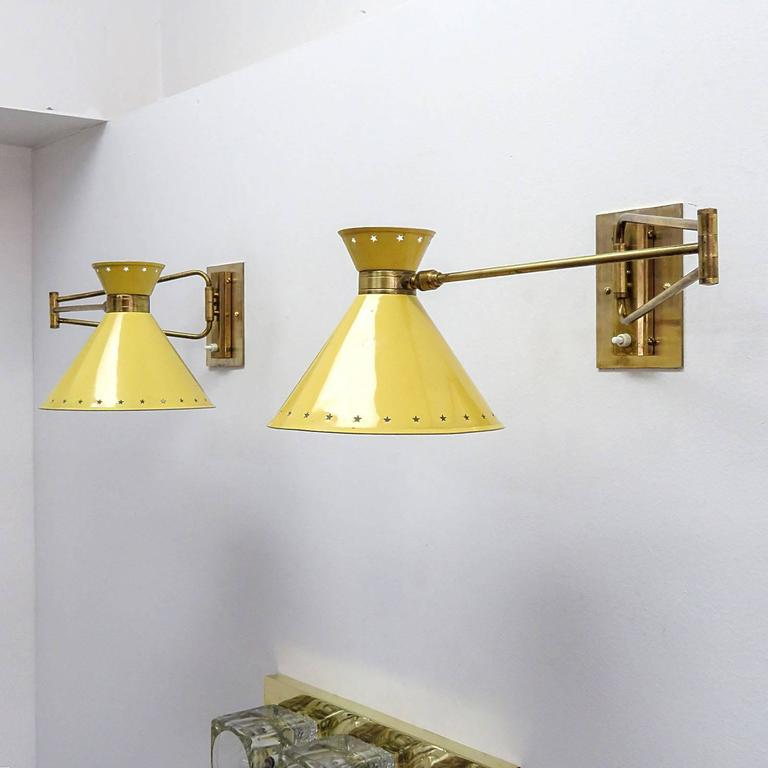 Pair of French Swing Arm Sconces by Lunel 5