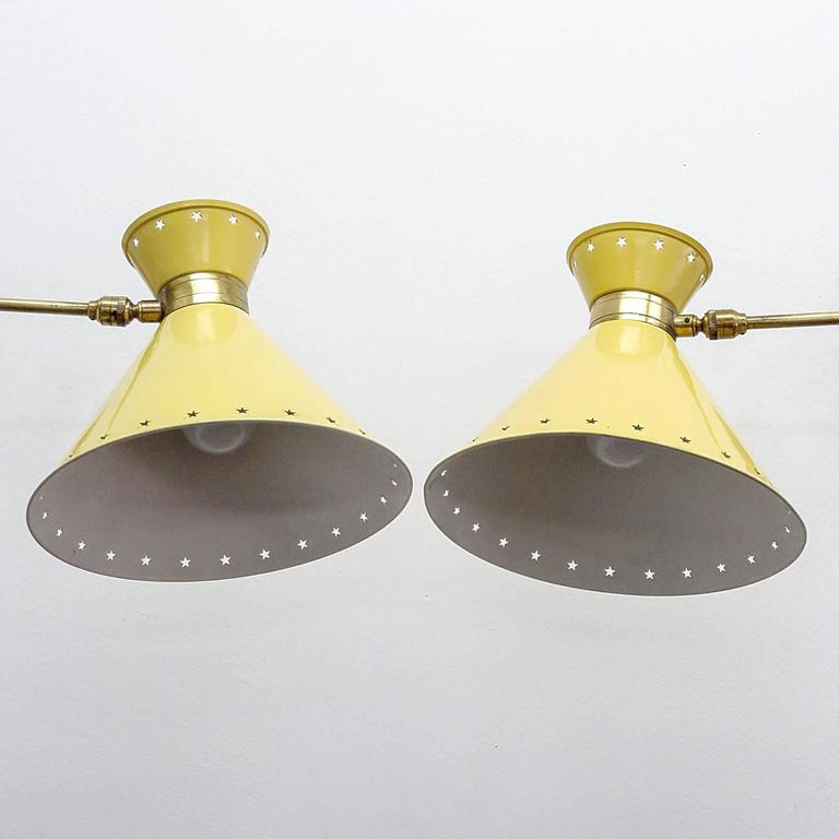 Pair of French Swing Arm Sconces by Lunel 7