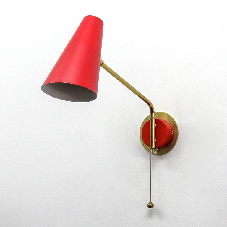 Wall Lights Scandinavian : Pair of Stilnovo Swing Arm Wall Lights at 1stdibs