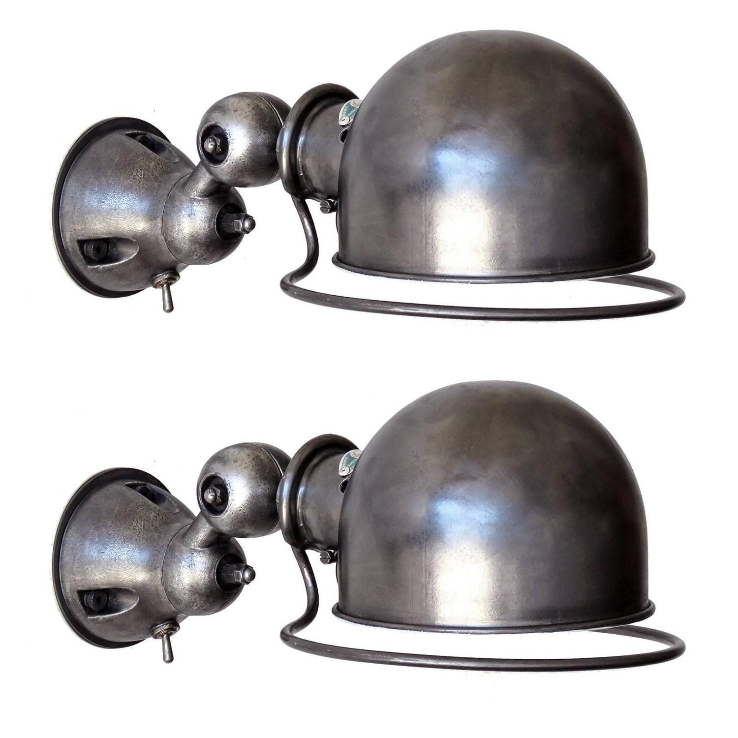 pair of jielde wall lights for sale at 1stdibs. Black Bedroom Furniture Sets. Home Design Ideas