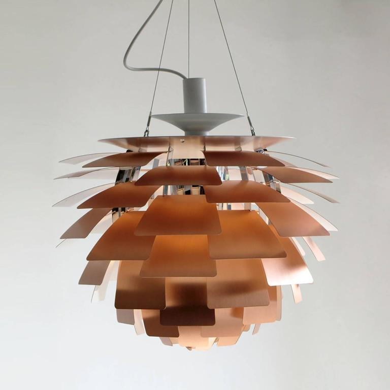 Ph artichoke copper lamp by poul henningsen at 1stdibs vintage iconic brushed copper hanging pendant lamp by poul henningsen manufactured by louis poulsen mozeypictures Gallery