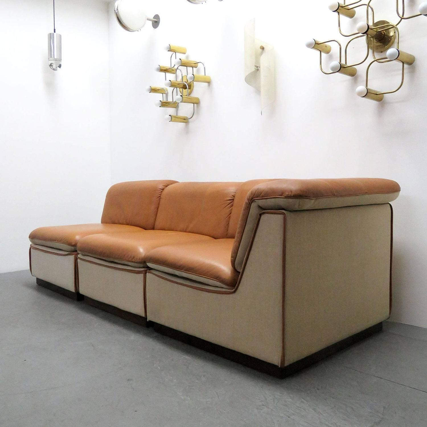 Finnish Modular Leather Sofa For Sale At 1stdibs
