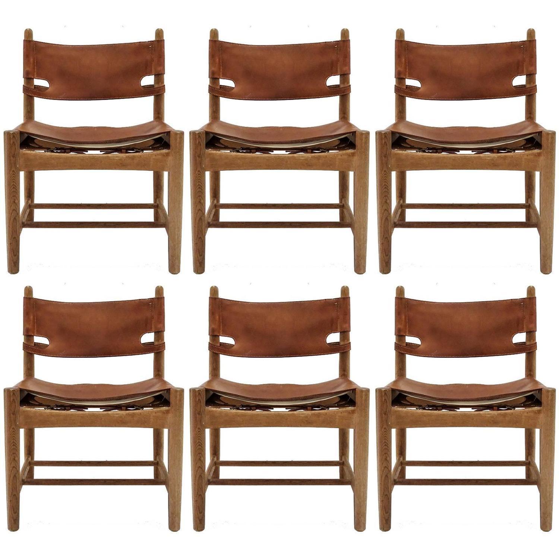 B¸rge Mogensen Hunting Chairs Model 3251 at 1stdibs