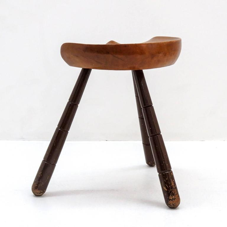 Three Legged Milking Stool 1940 At 1stdibs