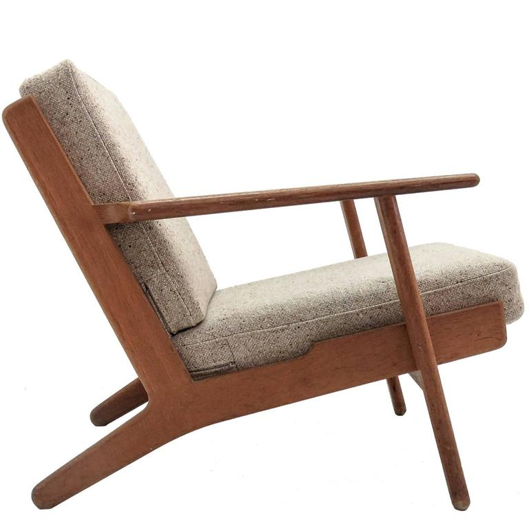 hans j wegner ge 290 lounge chair for sale at 1stdibs. Black Bedroom Furniture Sets. Home Design Ideas
