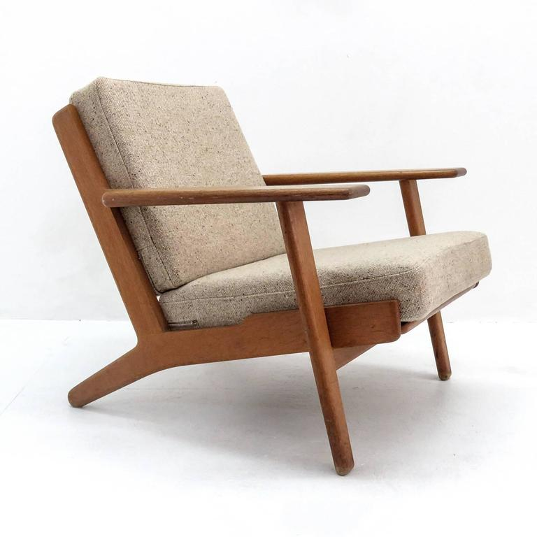 Mid-Century Modern Hans J. Wegner GE 290 Lounge Chair For Sale